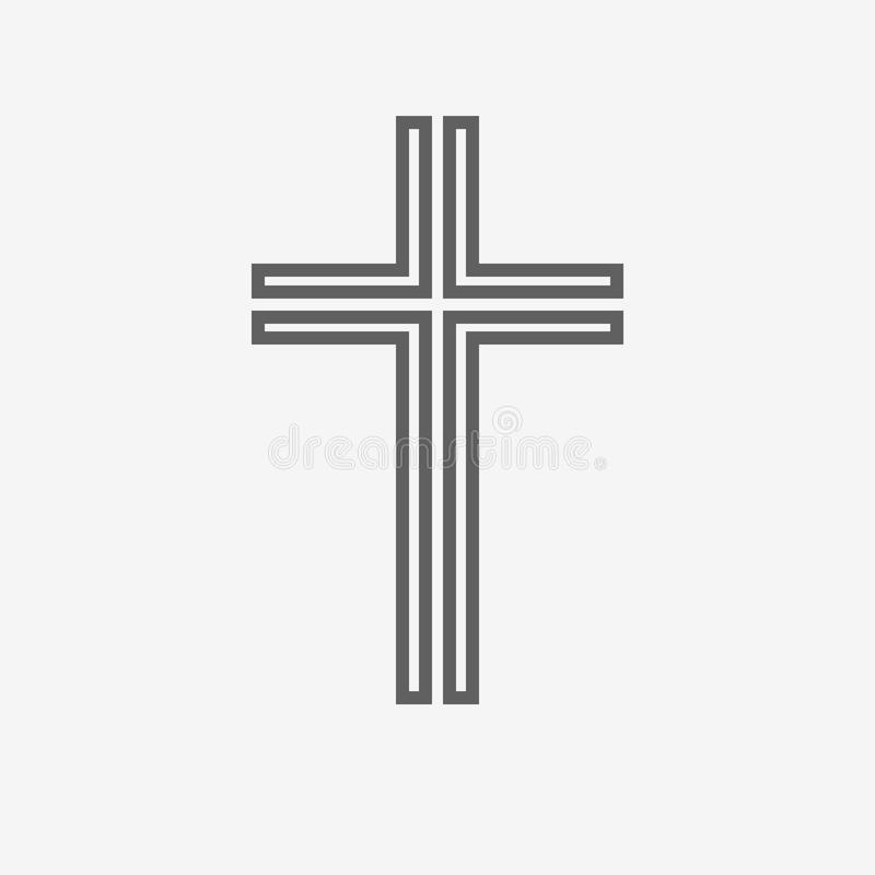Icono cruzado cristiano negro Ilustración del vector stock de ilustración