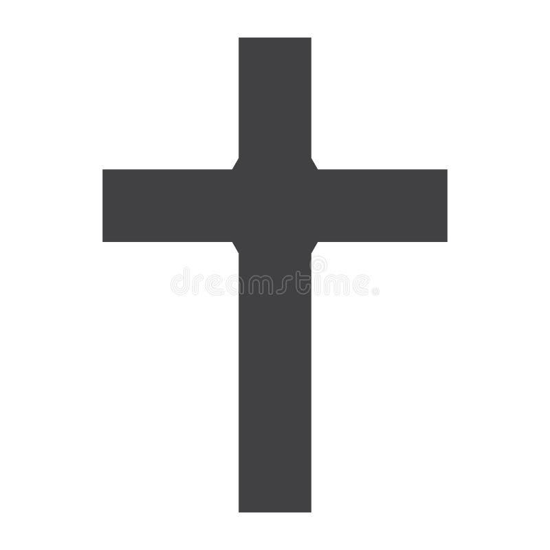 Icono cruzado cristiano, símbolo cristiano libre illustration