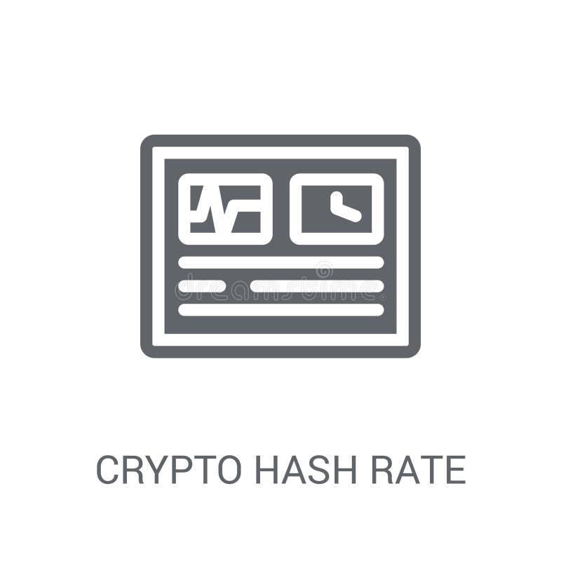 icono crypto de la tarifa del hachís Concepto crypto de moda del logotipo de la tarifa del hachís en w ilustración del vector