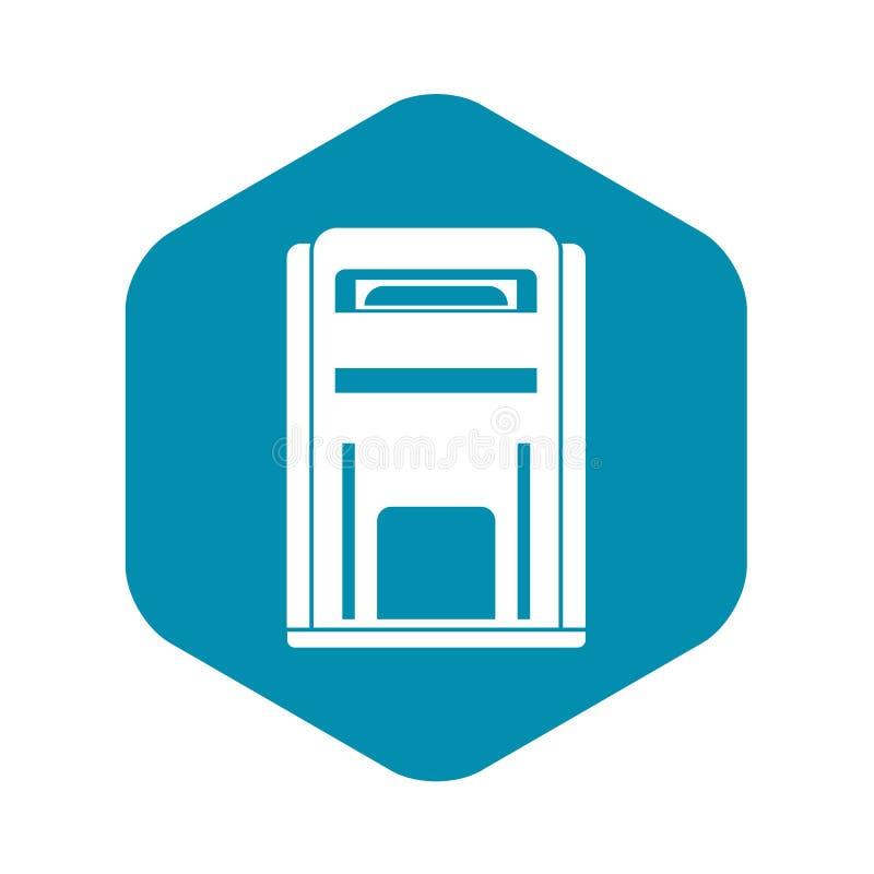 Icono cuadrado de la caja de los posts, estilo simple ilustración del vector