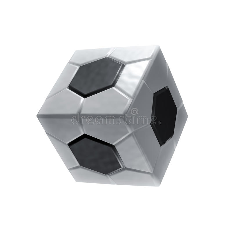 Icono cuadrado del balón de fútbol stock de ilustración