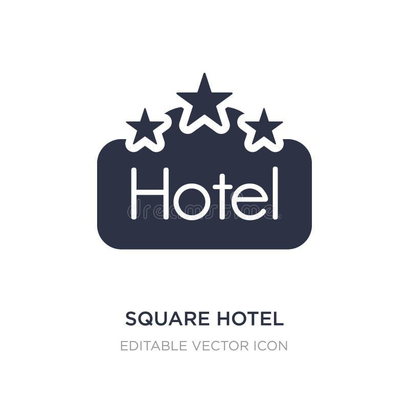 icono cuadrado del hotel en el fondo blanco Ejemplo simple del elemento del concepto de las muestras libre illustration