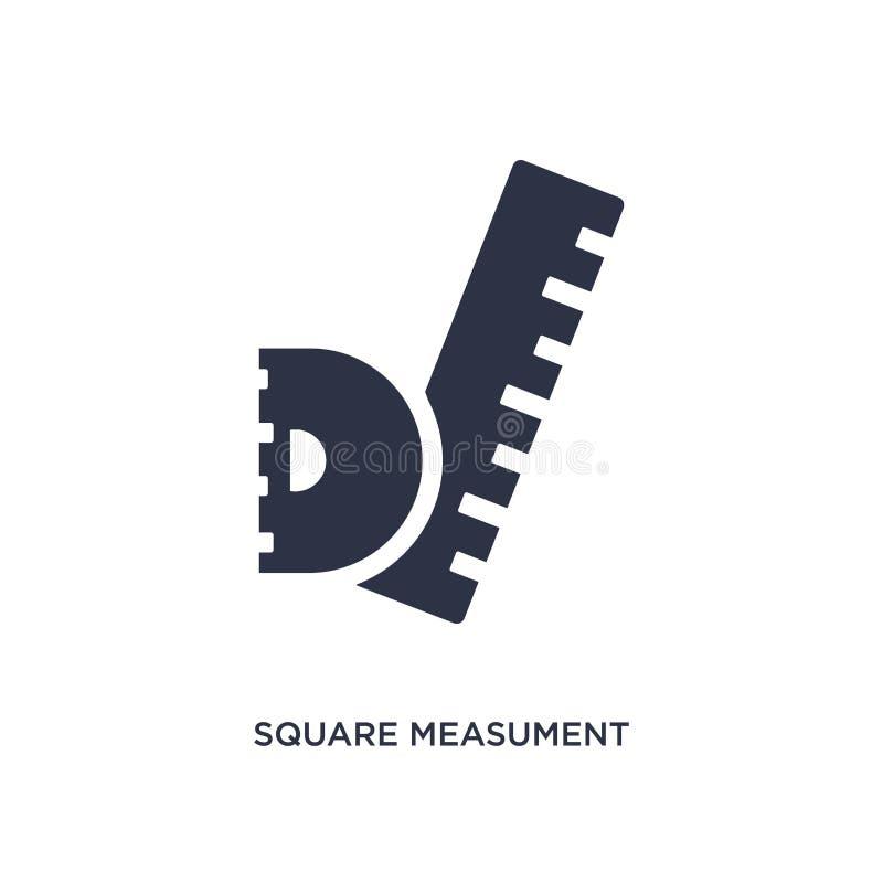 icono cuadrado del measument en el fondo blanco Ejemplo simple del elemento del concepto de la medida ilustración del vector