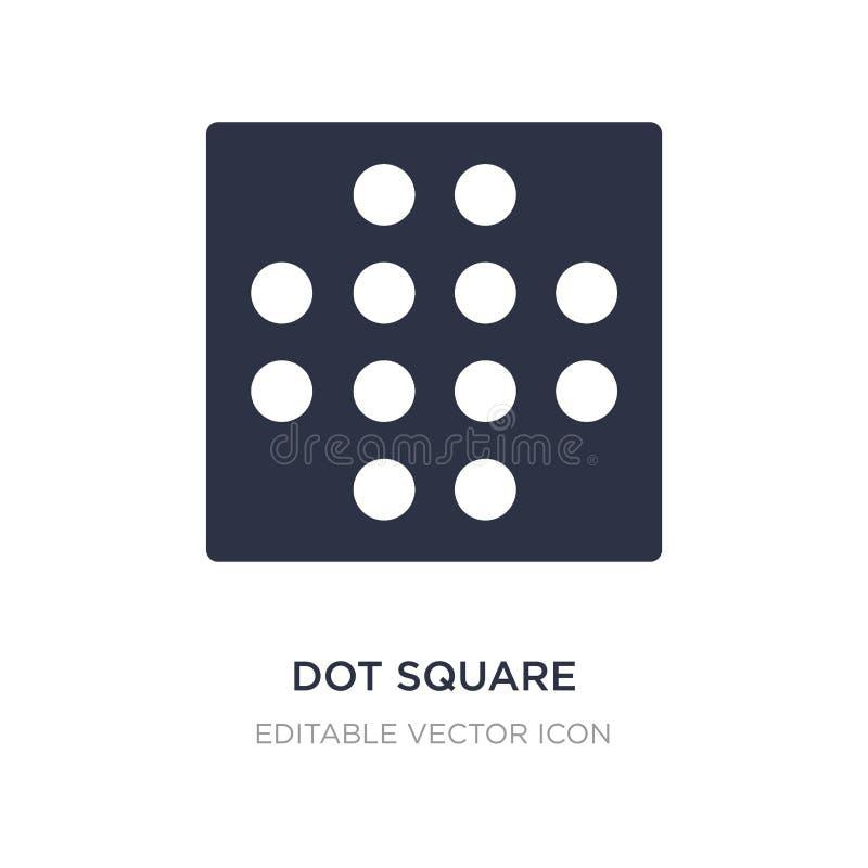 icono cuadrado del punto en el fondo blanco Ejemplo simple del elemento del concepto de las formas stock de ilustración