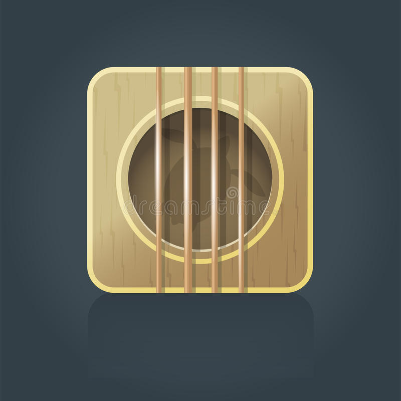 Icono cuadrado del vector de la guitarra del ukelele libre illustration