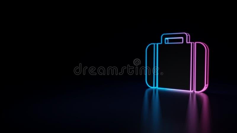 icono 3d de la maleta libre illustration