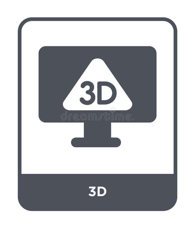 icono 3d en estilo de moda del diseño icono 3D aislado en el fondo blanco símbolo plano simple y moderno del icono del vector 3d  ilustración del vector