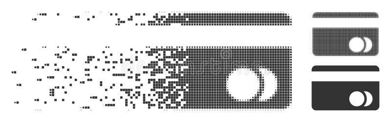 Icono dañado del pixel de la tarjeta de actividades bancarias libre illustration