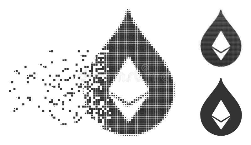 Icono dañado descenso del pixel de Ethereum libre illustration