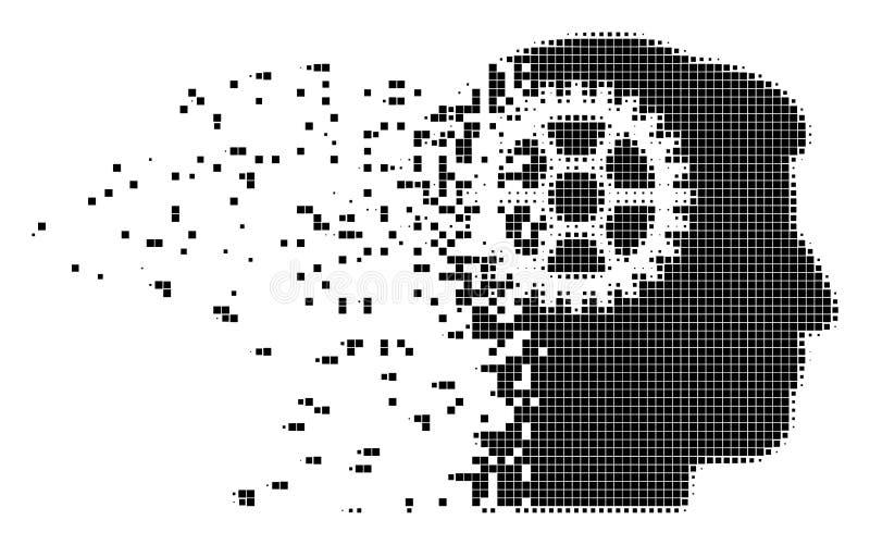 Icono dañado diente del pixel del intelecto libre illustration