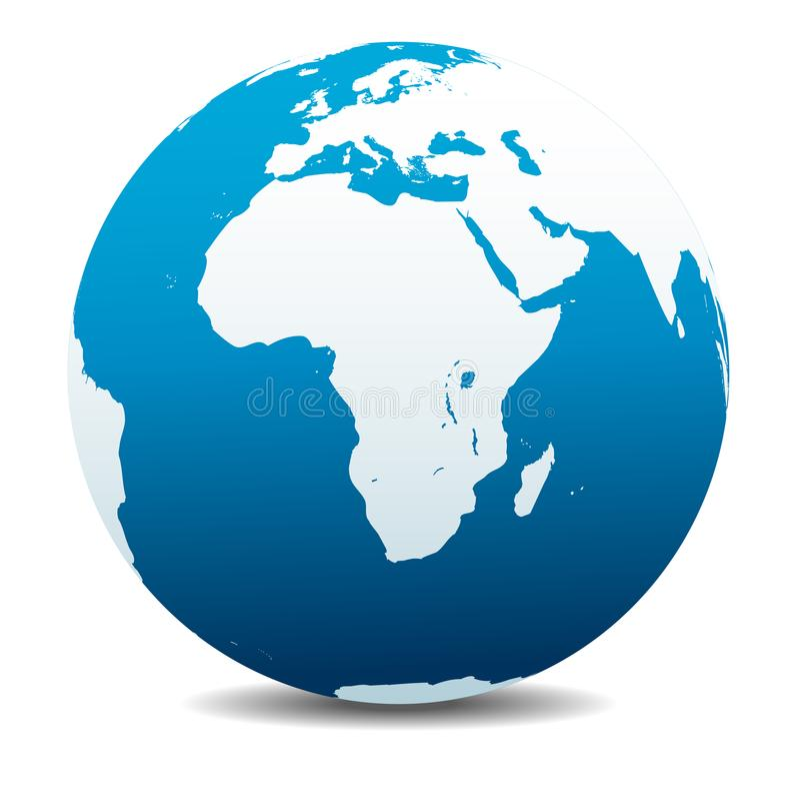 Icono de África, Arabia de la tierra del planeta del globo del mundo libre illustration