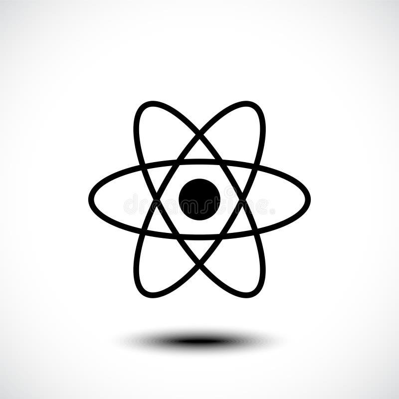 Icono de átomo, símbolo de átomo stock de ilustración