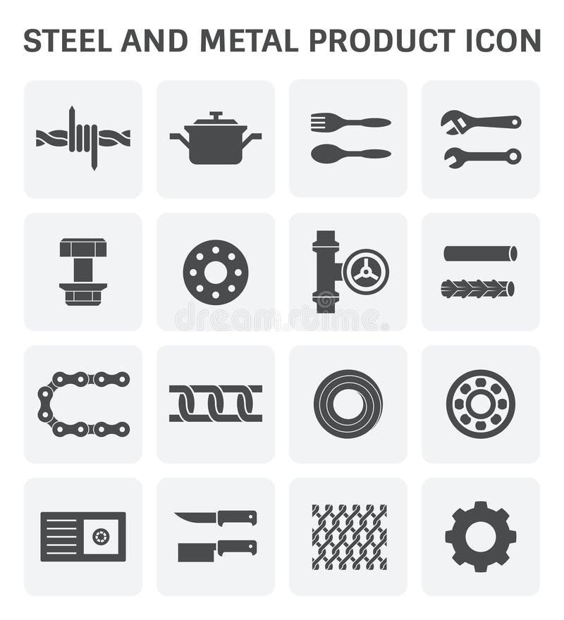 Icono de acero del metal ilustración del vector