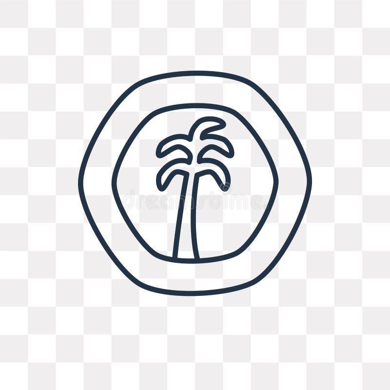 Icono de Africa Occidental francés del vector del franco aislado en vagos transparentes stock de ilustración