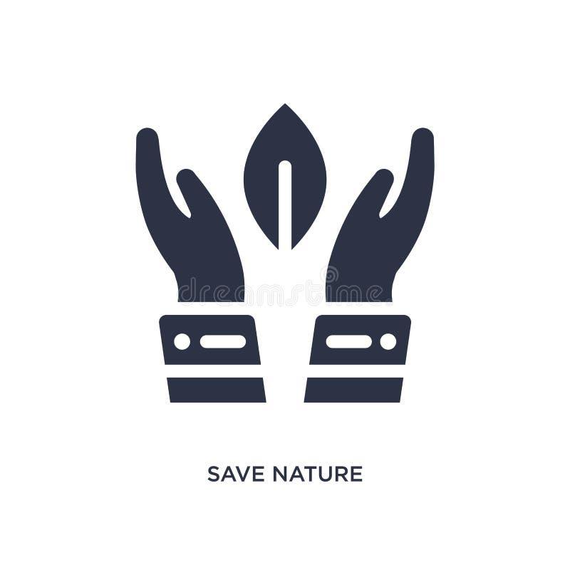 icono de ahorro de la naturaleza en el fondo blanco Ejemplo simple del elemento del concepto de la naturaleza ilustración del vector