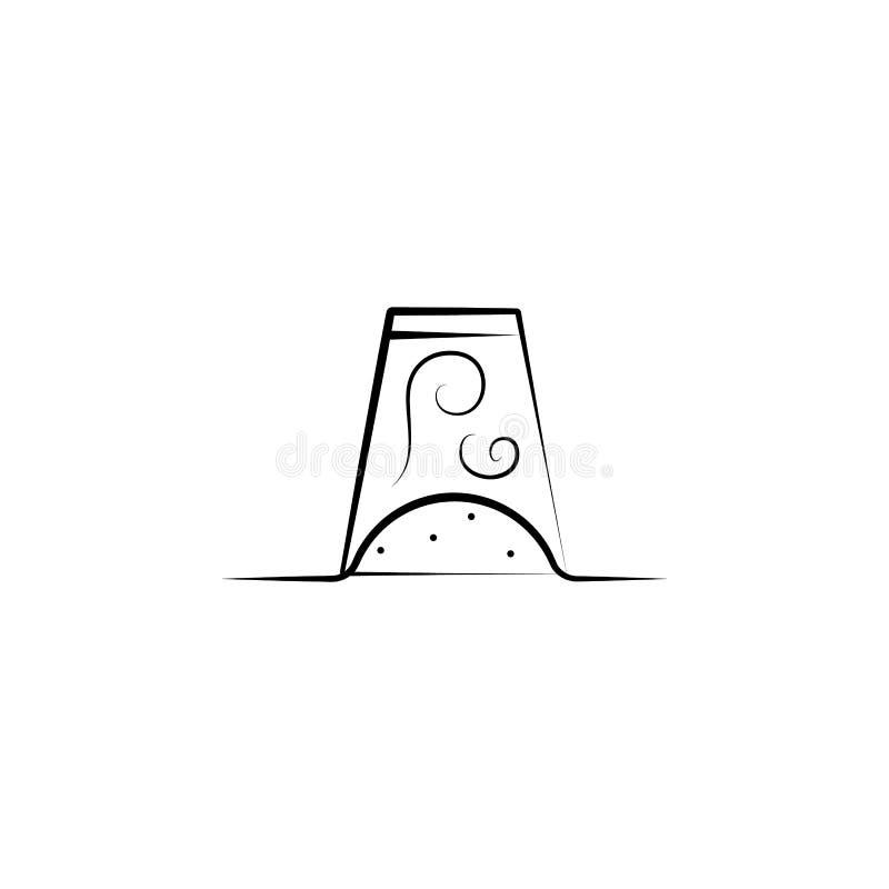 Icono de ahuecamiento chino del tratamiento Elemento del icono de la medicina alternativa para los apps móviles del concepto y de libre illustration