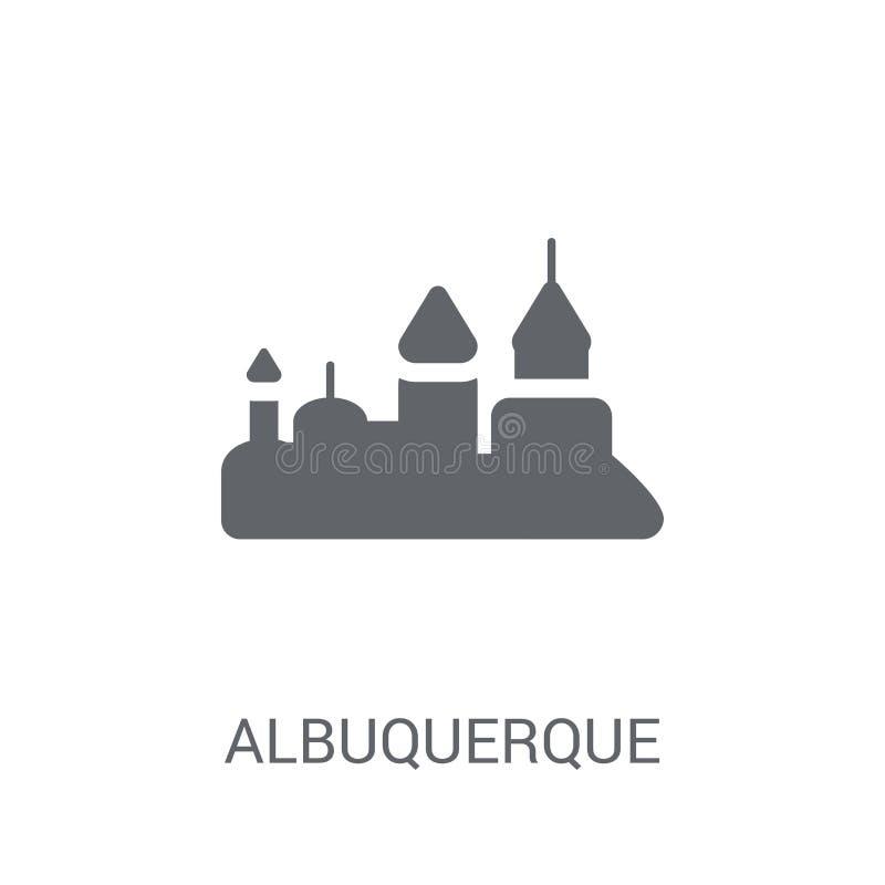 icono de Albuquerque  ilustración del vector