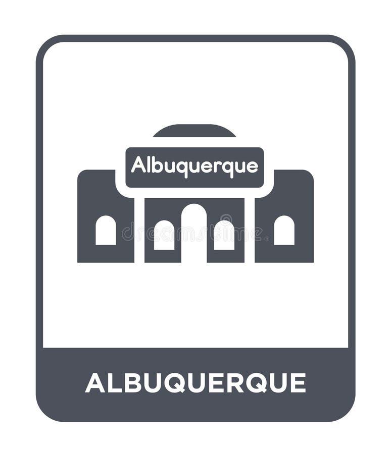 icono de Albuquerque en estilo de moda del diseño icono de Albuquerque aislado en el fondo blanco icono del vector de Albuquerque libre illustration