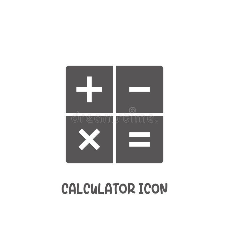 Icono de aplicación de cálculo ilustración vectorial de estilo plano simple libre illustration