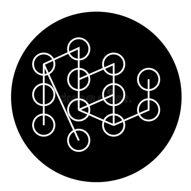 Icono de aprendizaje profundo del concepto del vector del negro del concepto Ejemplo plano de aprendizaje profundo del concepto,  ilustración del vector