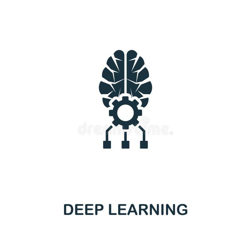 Icono de aprendizaje profundo Diseño superior del estilo de la colección del icono de la inteligencia artificial UI y UX Icono de libre illustration
