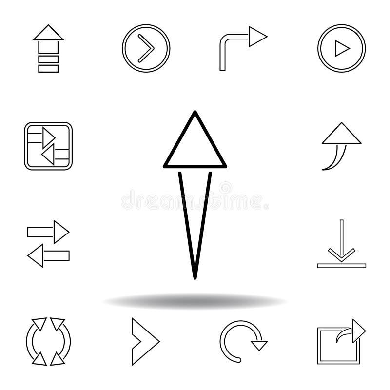 icono de aspiraci?n de la flecha Línea fina iconos fijados para el diseño y el desarrollo, desarrollo de la página web del app Ic libre illustration