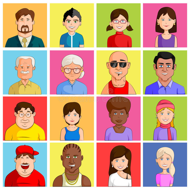 Icono de Avatar para diversa categoría de edad libre illustration