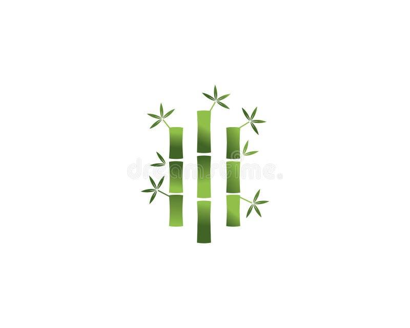 Icono de bambú del vector del logotipo stock de ilustración