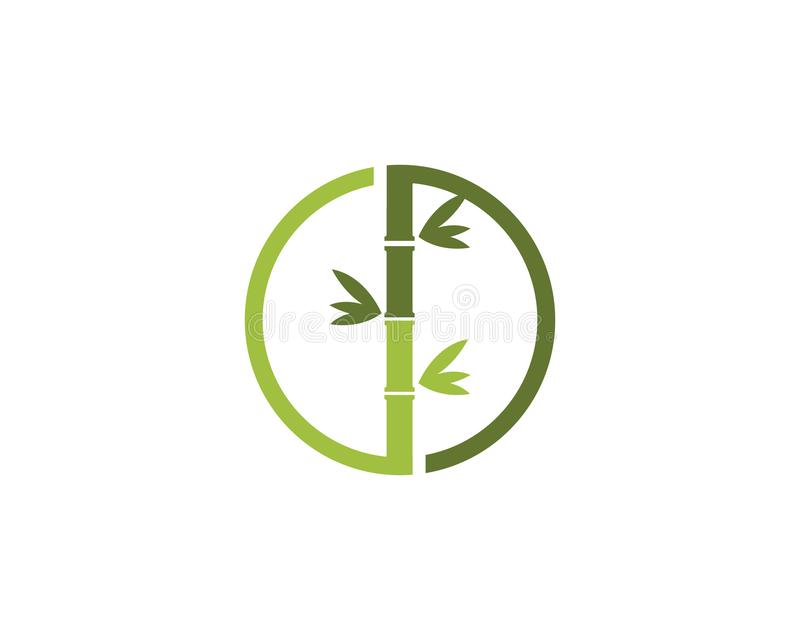 Icono de bamb? del vector de Logo Template ilustración del vector