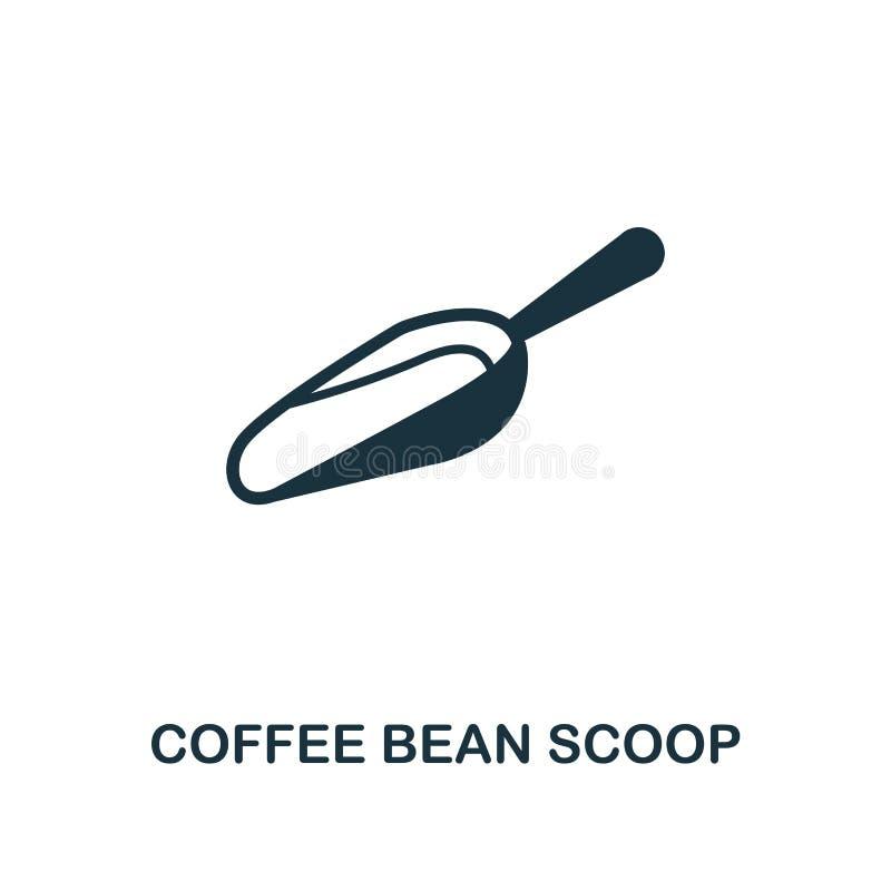 Icono de Bean Scoop del café Diseño superior del estilo de la colección del icono de la tienda del coffe UI y UX Icono perfecto d stock de ilustración