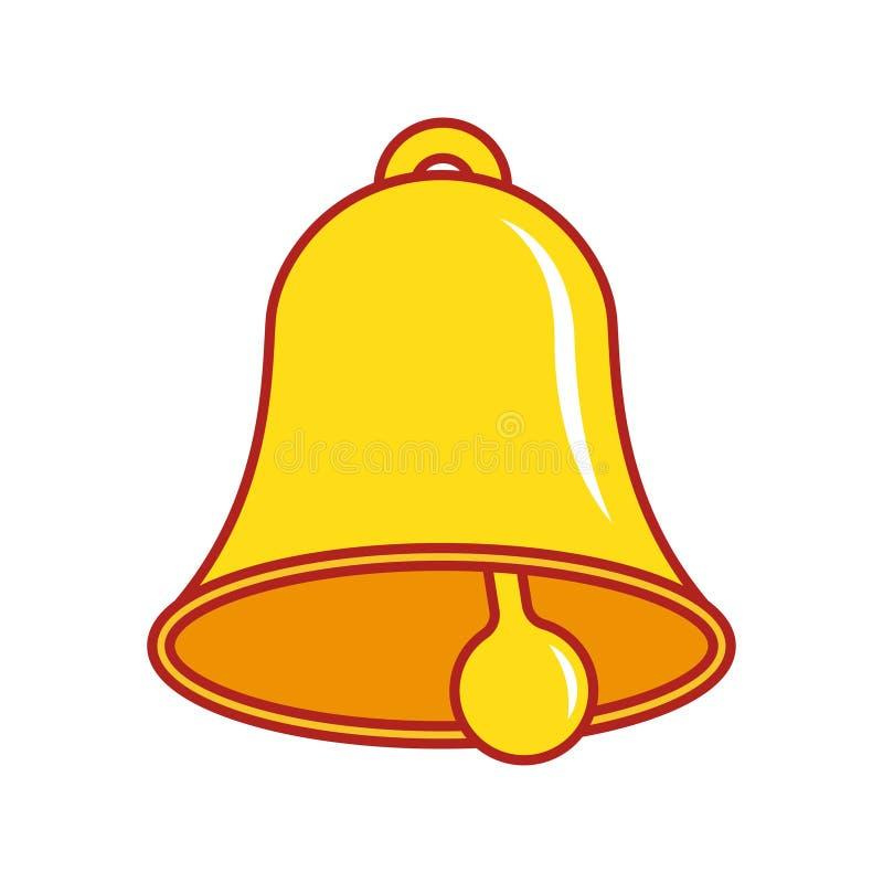 Icono de Bell alarmar stock de ilustración