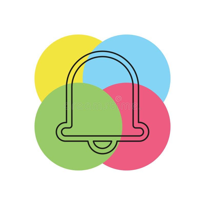 Icono de Bell, símbolo de la alarma de la alarma del vector ilustración del vector