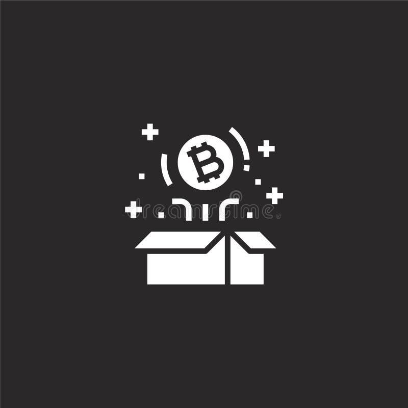 Icono de Bitcoin Icono llenado del bitcoin para el diseño y el móvil, desarrollo de la página web del app icono del bitcoin del d stock de ilustración
