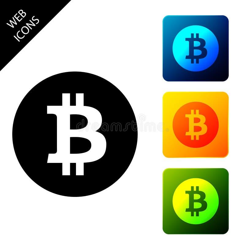 Icono de bitcoin de moneda de criptomoneda Bitcoin para dinero de internet Moneda de bit física Moneda digital Basado en cadena d ilustración del vector