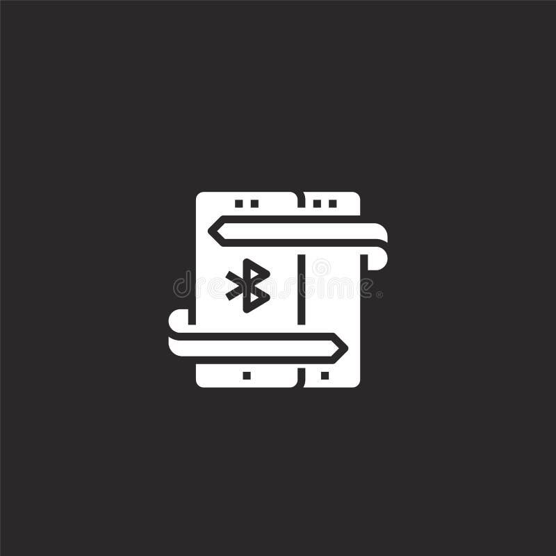 Icono de Bluetooth Icono llenado del bluetooth para el diseño y el móvil, desarrollo de la página web del app icono del bluetooth stock de ilustración