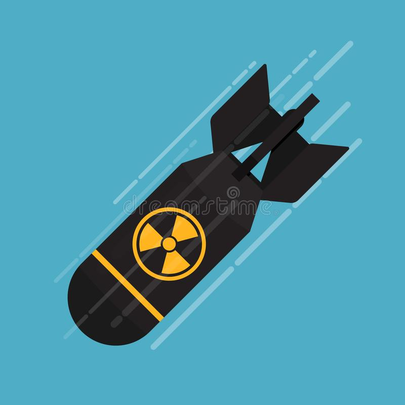 Icono de bomba nuclear stock de ilustración