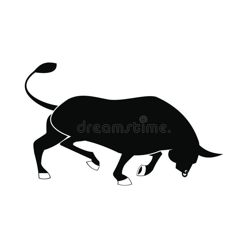 Icono de Bull, estilo simple libre illustration