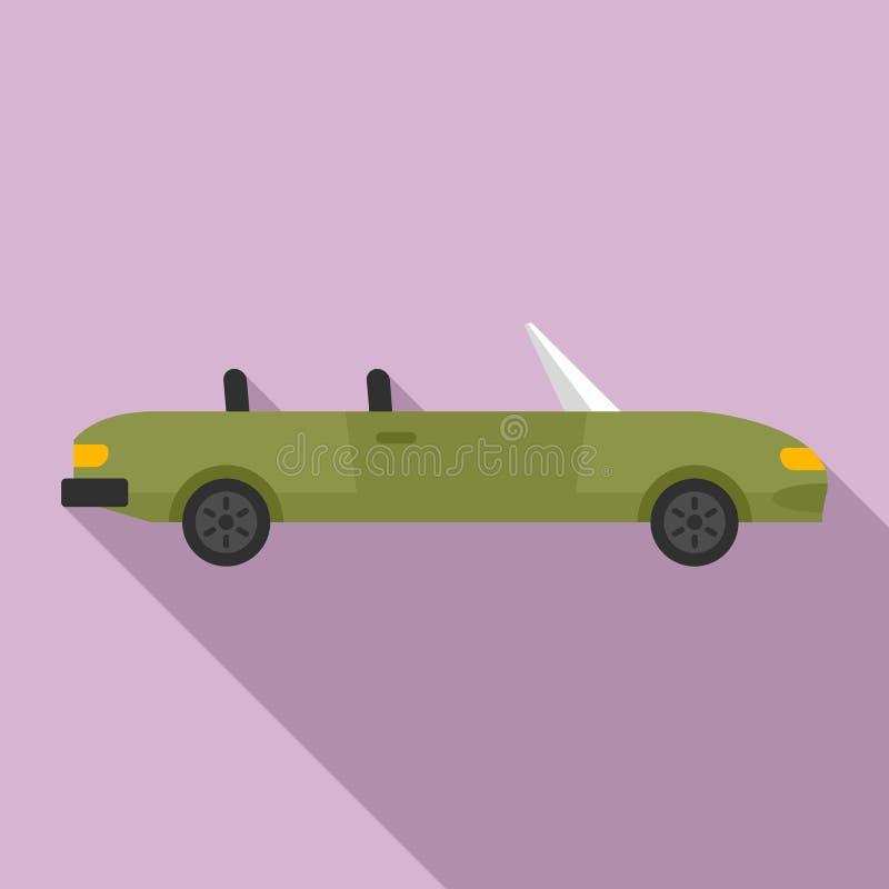 Icono de cabriolet familiar, estilo plano ilustración del vector