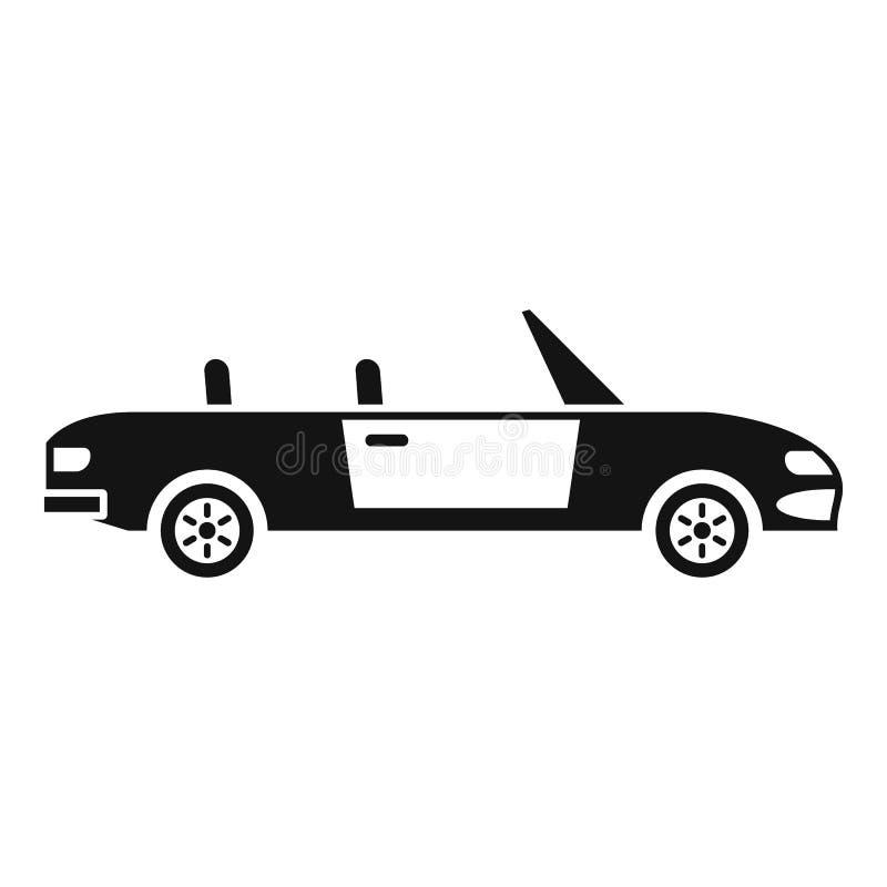 Icono de cabriolet familiar, estilo simple ilustración del vector