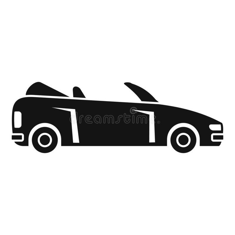 Icono de cabriolet moderno, estilo sencillo ilustración del vector