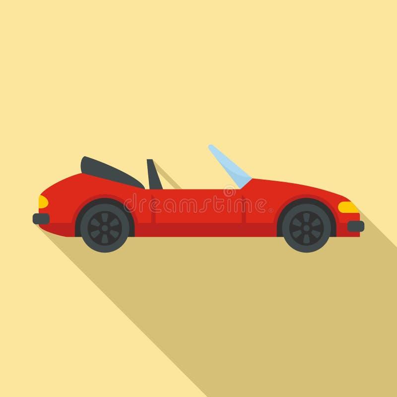 Icono de cabriolet rápido, estilo plano libre illustration