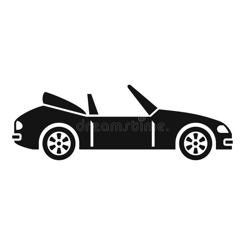 Icono de cabriolet rápido, estilo simple stock de ilustración