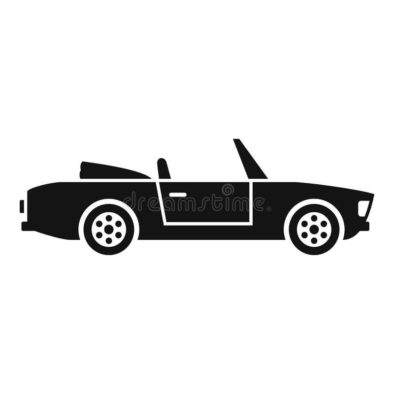 Icono de cabriolet de verano, estilo simple ilustración del vector