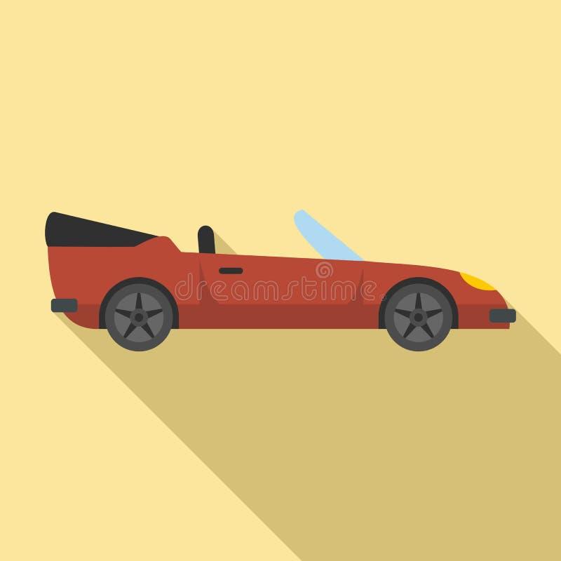 Icono de cabriolet de viaje, estilo plano stock de ilustración