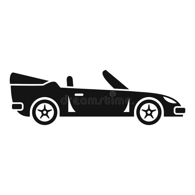Icono de cabriolet de viaje, estilo simple libre illustration