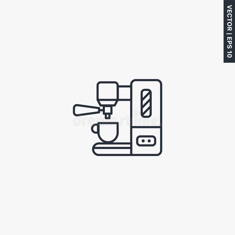 Icono de cafetera Espresso, símbolo de estilo lineal para el concepto móvil y el diseño web libre illustration