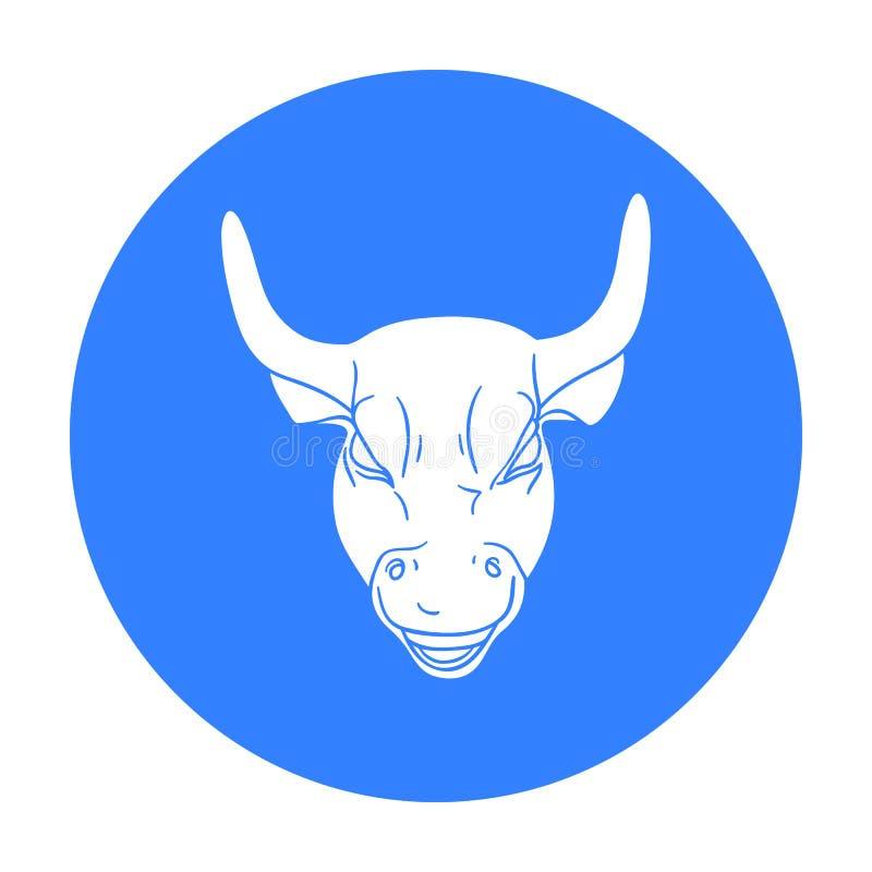Icono de carga de oro de Bull en estilo negro aislado en el fondo blanco Dinero y vector de la acción del símbolo de las finanzas ilustración del vector