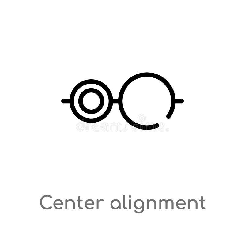 icono de centro del vector de la alineación del esquema r editable ilustración del vector