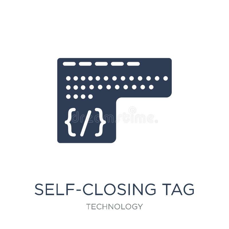 Icono de cierre automático de la etiqueta Icono de cierre automático de la etiqueta del vector plano de moda libre illustration