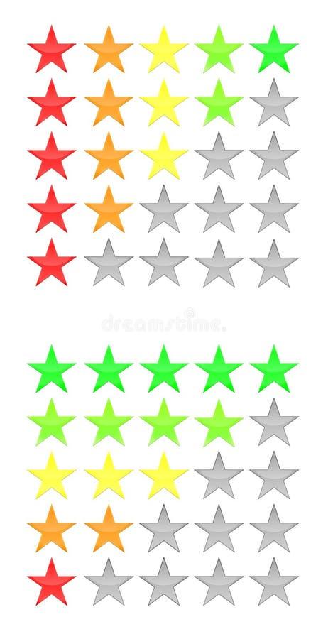 icono de cinco estrellas del grado fotos de archivo libres de regalías